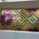 This glass mosaic was handmade by family members